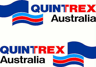 Quintrex, 4 Colour, Boat,  Tacklebox, Small Mirrored Sticker Decal Set of 2