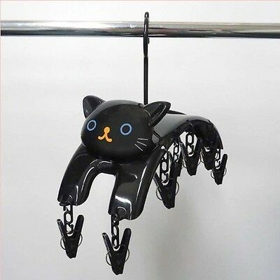 Black Cat Hanger Clothespins 10 pinches Laundry Goods