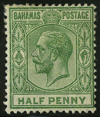 Bahamas   1912-19   Scott # 49   Mint Hinged Tear