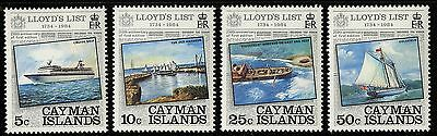 Cayman Islands   1984   Scott # 522-525   Mint Never Hinged Set