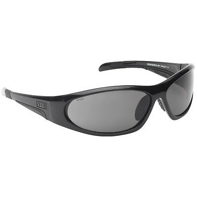 5.11 Ascend Tactical Sport Ballistic Sunglasses Smoke Lens Black Frame with Case