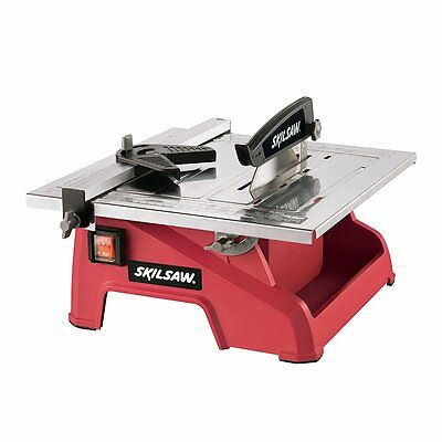 "Electric Ceramic Tile Saw Marble Cutter Wet Dry w 7"" Diamond Blade Masonry Cut"