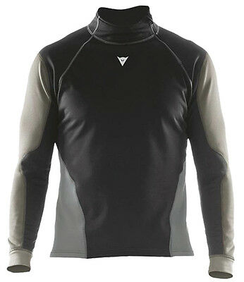 Dainese Top Map Windstopper Motorcycle Base Layer Black / Anthracite / Grey