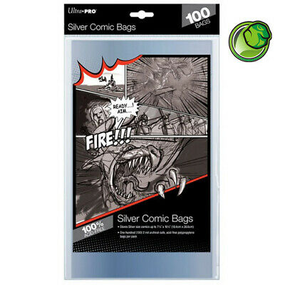 Ultra Pro Silver Size Acid-Free Comic Bags - Qty 100