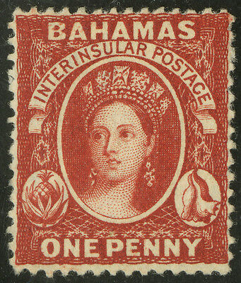 Bahamas   1863-81   Scott # 16   UNUSED