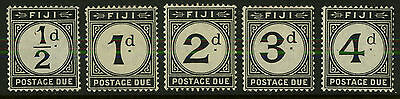 Fiji   1918   Scott # J7-J11   Mint Hinged - Lightly Hinged Set
