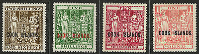 Cook Islands   1932-36   Scott # 103-106    Mint Very Lightly Hinged Part Set