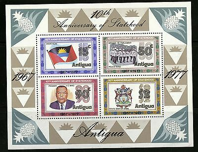 Antigua   1977   Scott #494a   Mint Lightly Hinged Souvenier Sheet
