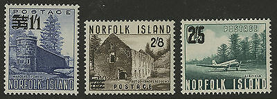 Norfolk Island   1960   Scott #  26-28    Mint Never Hinged Set
