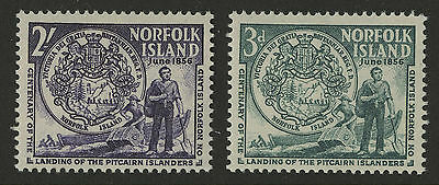 Norfolk Islands   1956   Scott #  19-20    Mint Never Hinged Set