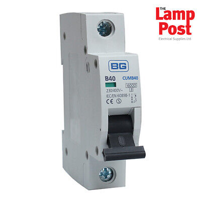BG CUMB40 - British General 40A 40 Amp SP MCB Circuit Breaker Fuse