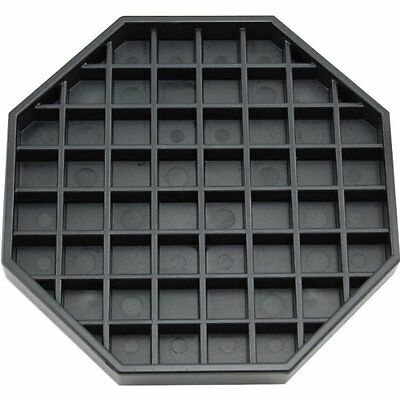 """Coffee Counter-top Octagon Drip Tray - 6"""" - Black free shipping"""