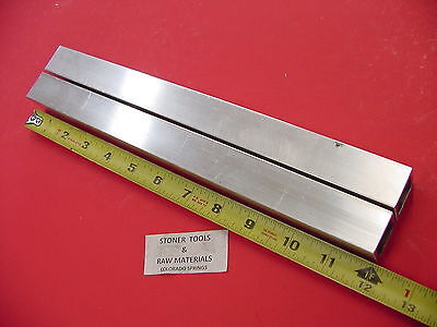 "2 Pieces 1""x 1""x 1/8"" Wall x 12"" Long ALUMINUM SQUARE TUBE 6063 T52 1""SQ x .125"""