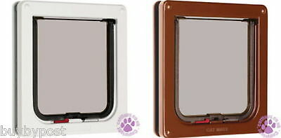 Cat Mate Flap 2 Way Locking Pet Door White Or Brown 304