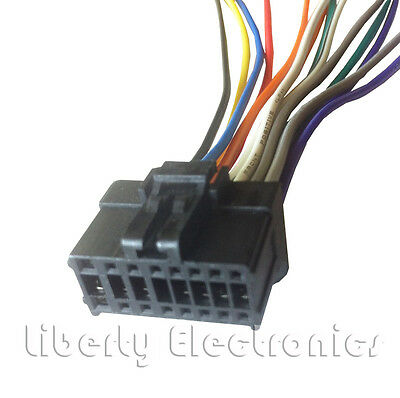 new 16 pin auto stereo wiring harness plug for pioneer deh-p310ub / deh-
