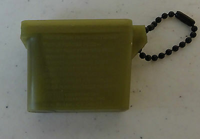 US Army Plastic Case And Ear Plug Inserter Non- Reflective  New without Tags