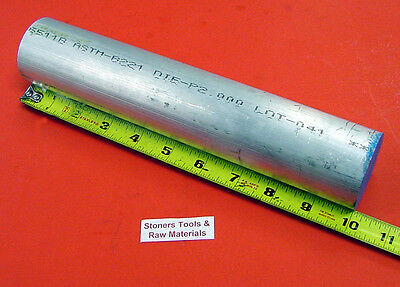 "2"" ALUMINUM ROUND ROD 6061 BAR 10"" long Solid T6511 Lathe Stock 2.00"" OD x 10"""