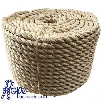 Rope - 40 mm Synthetic Sisal,Sisal,Sisal For Decking,Garden & Boating, x 30mts