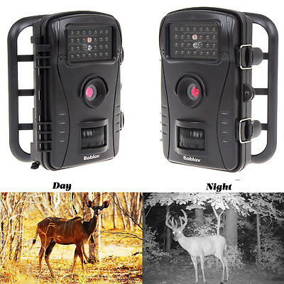RD1003 Infrared HD Wildlife Trophy Cam Trail Security Camera Black No-Glow LED
