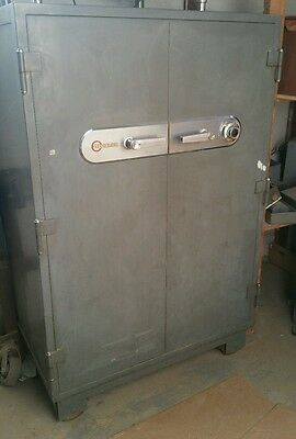 "Vintage Large Mosler double door combination safe EUC 39.5""W x 61""H x 27.5""D"