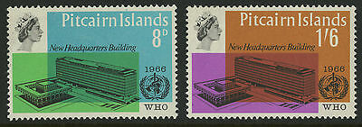 Pitcairn Islands  1966  Scott # 62-63  MNH Set