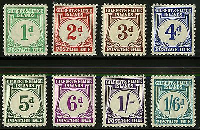 Gilbert & Ellice Islands   1940   Scott # J1-J8   Mint Lightly Hinged Set