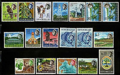 Seychelles  1962-69  Scott # 198-212  MLH Part Set