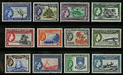 Gilbert & Ellice Islands   1953   Scott # 61-72   Mint Very Lightly Hinged Set