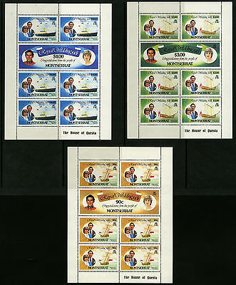 Montserrat   1981   Scott # 465-470   Mint Never Hinged Souvenir Sheet Set