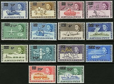 British Antarctic Territory   1971   Scott # 25-38   MNH Set