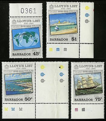 Barbados   1984   Scott #627-630   MNH Set