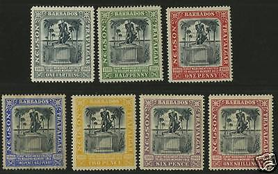Barbados 1906  Scott # 102-108  MLH Set