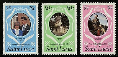 St Lucia   1981   Scott # 543-545   MNH Set