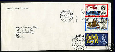 Great Britain 1963  Scott # 395-397  FDC