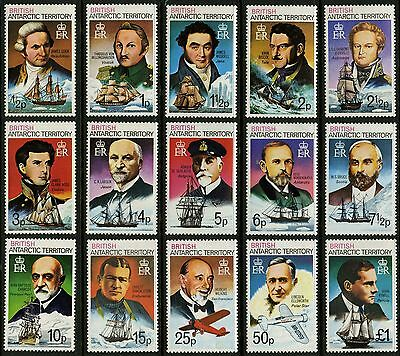 British Antarctic Territory   1973   Scott # 45a-59a   MLH Set