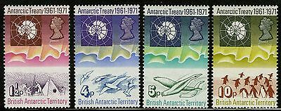 British Antarctic Territory   1971   Scott # 39-42   MNH Set