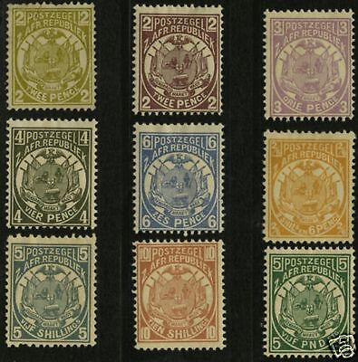 Transvaal  1885-93  Scott # 125-135  MLH Part Set
