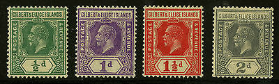 Gilbert & Ellice Islands   1921-27   Scott # 27-30   Mint Lightly Hinged Part
