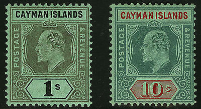 Cayman Islands   1908   Scott # 29-30  Mint Lightly Hinged Set