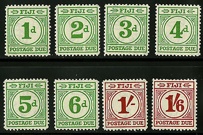 Fiji   1940   Scott # J12-J19   Mint Very Lightly Hinged Set