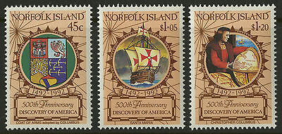 Norfolk Island   1991   Scott # 517-519    Mint Never Hinged Set
