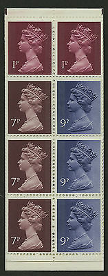 Great Britain   1977   Scott #MH 67a    Mint Never Hinged Booklet Pane - Right