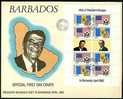 Barbados   1982   Scott #581-584   FDC