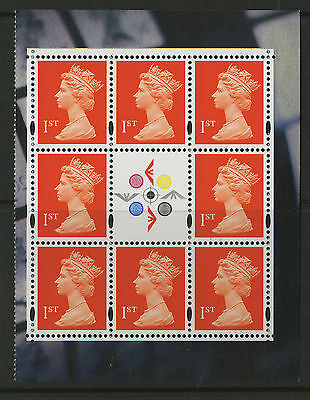 Great Britain   1999   Scott #MH288a    Mint Never Hinged Booklet Pane