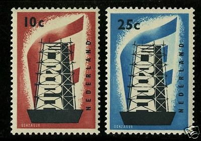 Netherlands 1956  Scott # 368-369  MNH Set