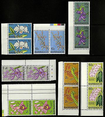 Barbados   1974-77   Scott #396-398, 400, 402, 406, 407   MNH Part Set