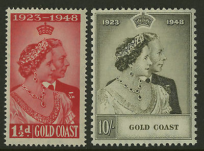 Gold Coast  1948  Scott # 142-143  Mint Never Hinged Set