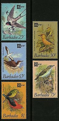 Barbados   1987   Scott #701-705   MLH Set