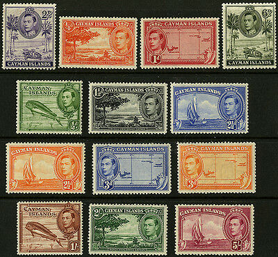 Cayman Islands   1938-43    Scott # 100-110, 114-115   MLH  Part Set
