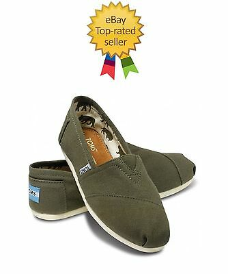 Tom's Canvas Olive Green. All Sizes. Brand New With Tag